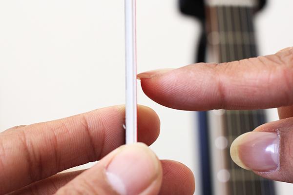彈吉他留指甲 - 測量指甲長度